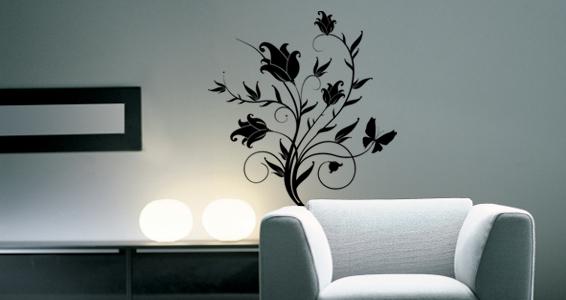 Stickers muraux bouquet de fleurs sticker d coration murale - Pose stickers muraux ...