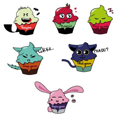 sticker cup cake halloween