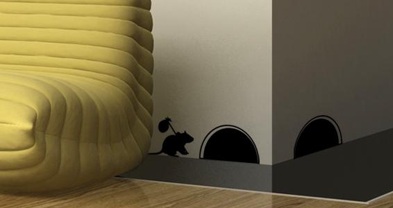 sticker Trou de souris