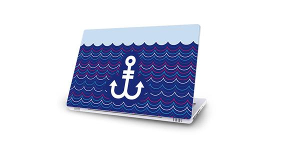 sticker Ancre Blanche pour Mac Book