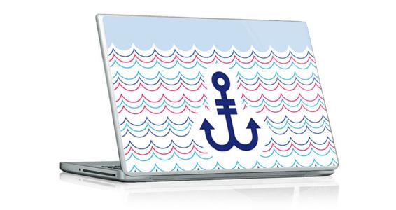 sticker Ancre Bleue pour PC portable