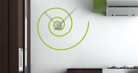 sticker Horloge Snail