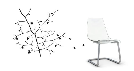 sticker Fall Tree by Anne et L
