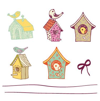 sticker Maison d'oiseaux en farandole