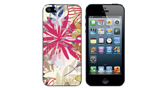 sticker Fleur exotique Iphone5