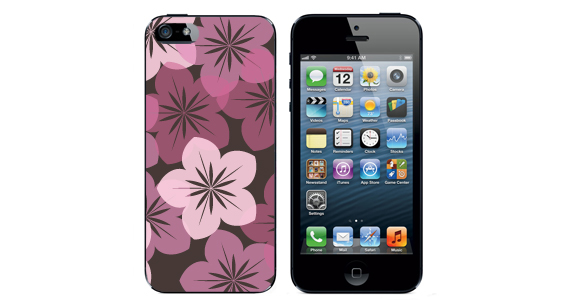 sticker Fleur rose Iphone5