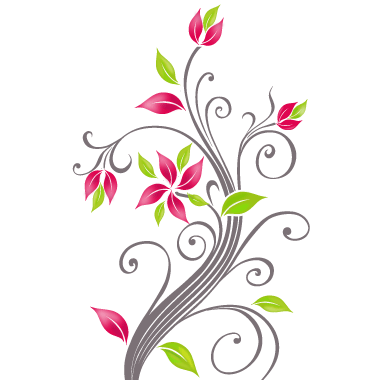 sticker Fleurs arabesques