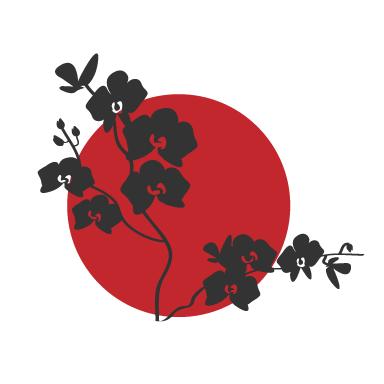 Stickers muraux fleurs du japon sticker d coration for Decoration murale japonaise