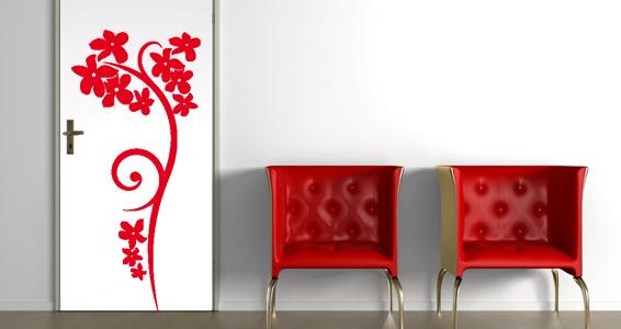 sticker Grandes fleurs décoratives