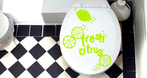 sticker Citron frais pour WC