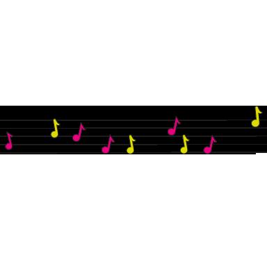 sticker frise musicale couleur