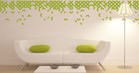 sticker Frise géométrie végétale