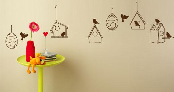 sticker Frise Nids d'oiseaux