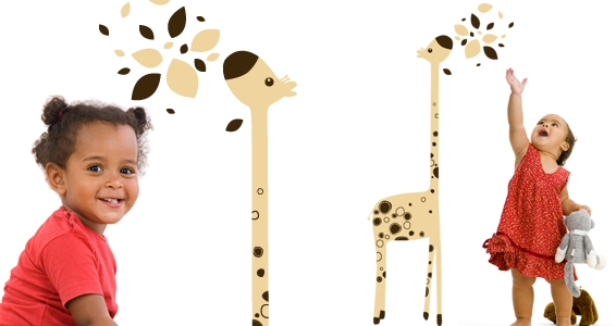 sticker Giraffe Ptipois