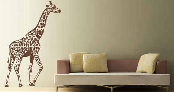 sticker Girafe Géante