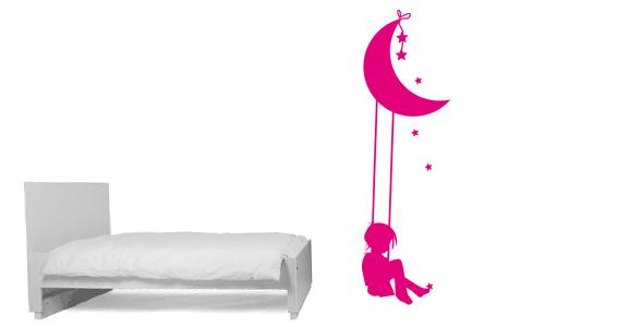 sticker Balançoire et lune