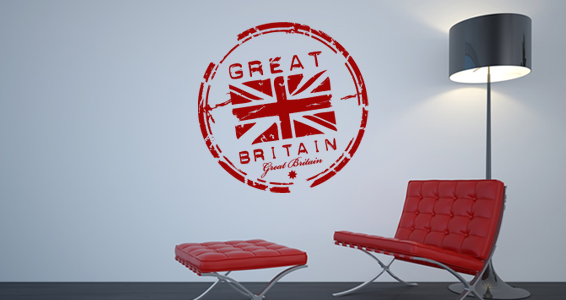 sticker Timbre drapeau Anglais