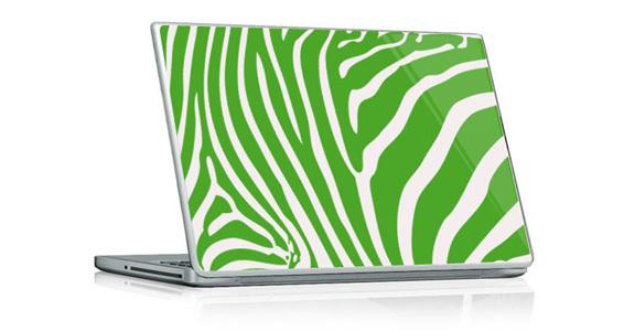 sticker Zèbre vert pour PC portable