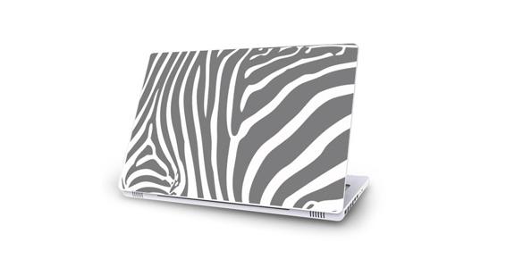 sticker Zèbre gris pour Mac Book