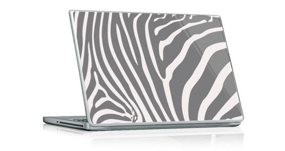 sticker Zèbre gris pour PC portable
