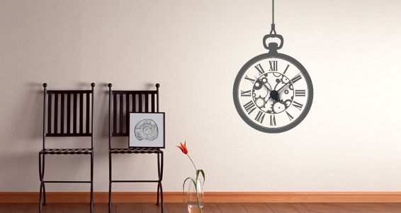 sticker Horloge Fil