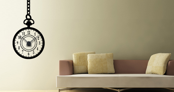 sticker Horloge Suspendue
