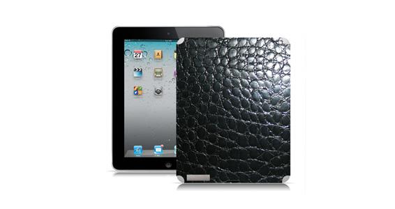 sticker Croco noir pour Ipad2