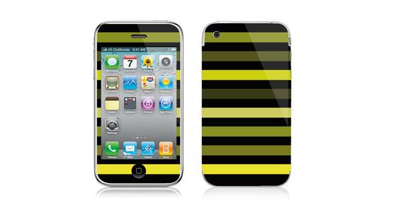 sticker Bayadère vert pour Iphone3