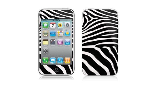 sticker Zèbre noir pour Iphone3