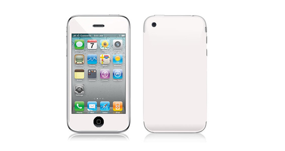 sticker Blanc pour Iphone3