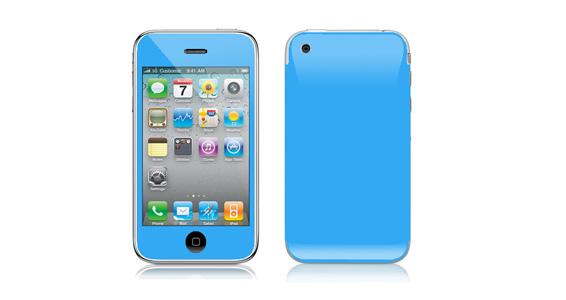 sticker Bleu ciel pour Iphone3