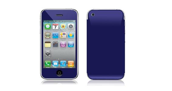 sticker Bleu nuit pour Iphone3
