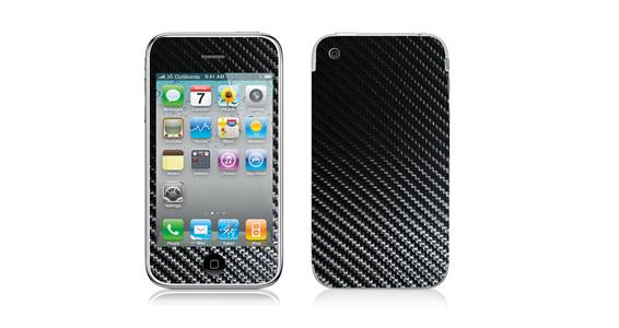 sticker Carbone Noir pour Iphone3