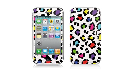 sticker Léopard multicolor pour Iphone3