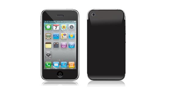 sticker Noir ébène pour Iphone3