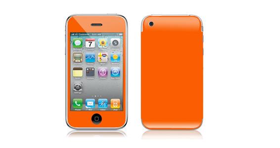 sticker Orange pop pour Iphone3é