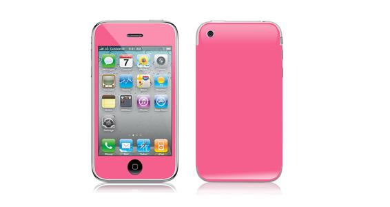 sticker Rose bonbon pour Iphone3