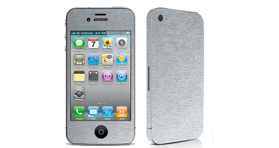 sticker Aluminium Brossé pour Iphone4