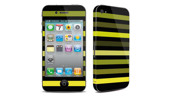 sticker Bayadère vert pour Iphone4
