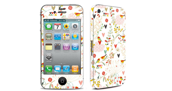 sticker Birds pour Iphone4