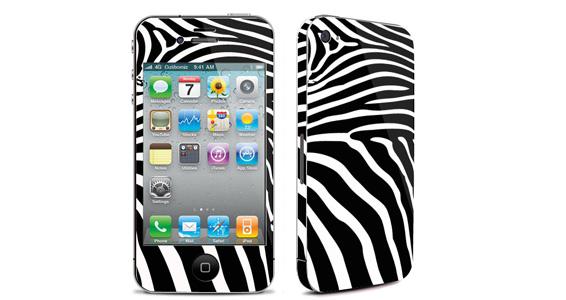 sticker Noir pour Iphone4