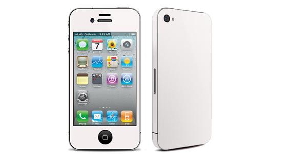 sticker Blanc pour Iphone4