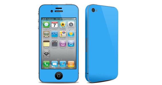 sticker Bleu ciel pour Iphone4