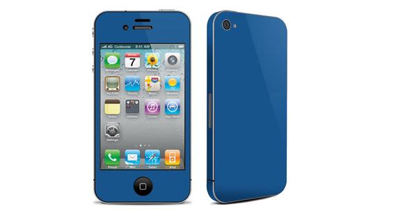 sticker Bleu roi pour Iphone4