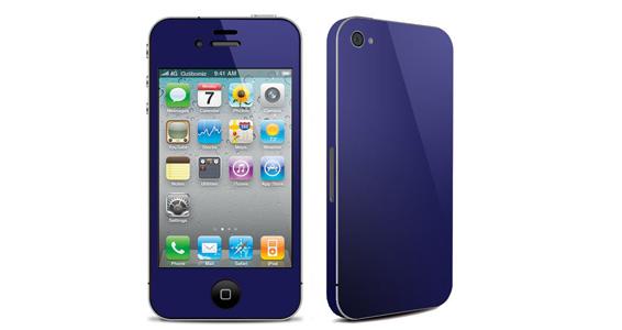 sticker Bleu nuit pour Iphone4
