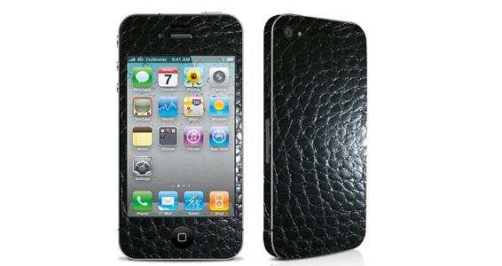 sticker Crocodile Noir pour Iphone4
