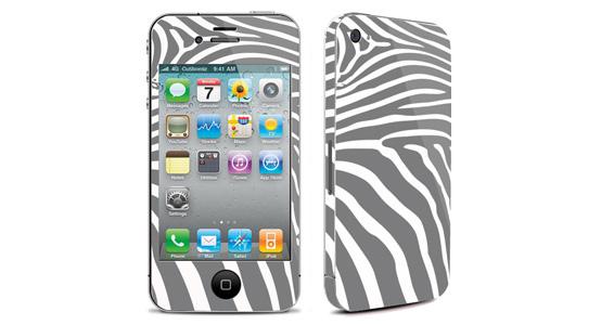sticker Zèbre gris pour Iphone4