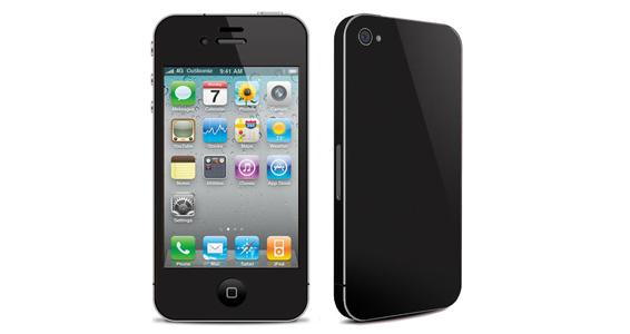 sticker Noir ébène pour Iphone4