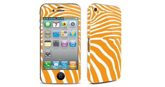 sticker Zèbre jaune pour Iphone4
