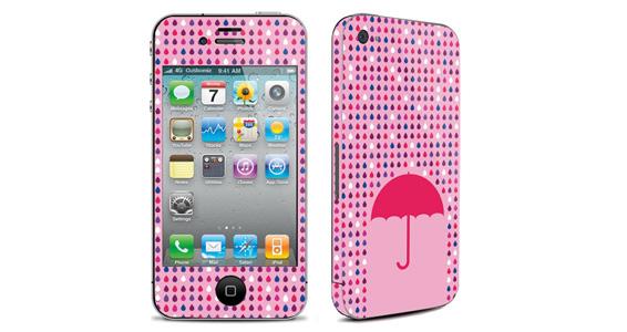 sticker Parapluie rose pour Iphone4